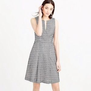 J. Crew black/white Eyelet fit to flare dress